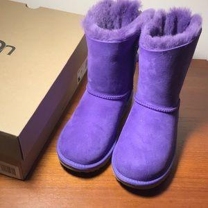 UGG Bailey Bow II Purple Kids 4, Women's 6